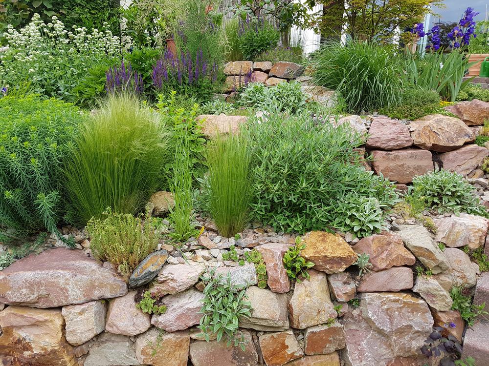 Fleurir un muret de jardin